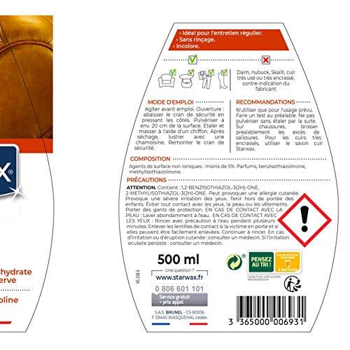 STARWAX Lait de Soin pour Cuir - 500ml - Idéal pour Nettoyer, Nourrir et Préserver Régulièrement le Cuir 2