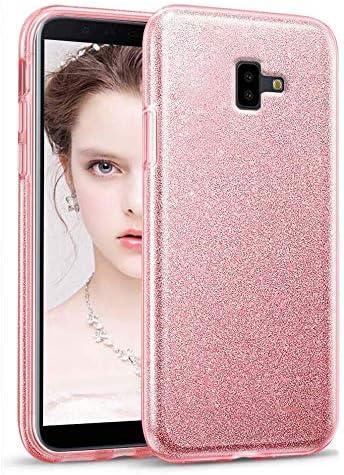 """Image ofCoovertify Funda Purpurina Brillante Rosa Samsung J6+ / J6 Plus, Carcasa Resistente de Gel Silicona con Brillo Rosa para Samsung Galaxy J6 Plus (6"""")"""