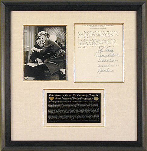 "Lucille ""Lucy"" Ball – Document Signed 04/02/1956 with co-signers"