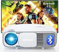 """Vidéoprojecteur 7200 Bluetooth, Natif 1920x1080P Full HD, WiMiUS S4 LCD Rétroprojecteur, pour Home Cinéma 300"""", LED..."""
