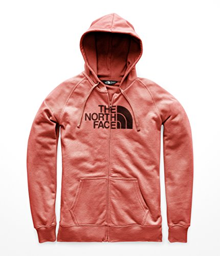 Full Sweatshirt Screen Print Zip (The North Face Womens Half Dome Full Zip Hoodie - Faded Rose Heather & Fig - XL)