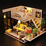 MiCute Doll House Miniature DIY House Kit Creative Room with Furniture Birthdays, Valentine, Crafts, Collectors Gift for Lovers, Friends, Kids (Cynthia's Holiday)