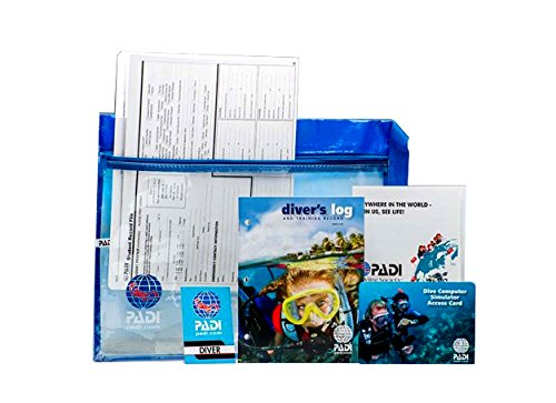 PADI 70821 eLearning Open Water Crew Pack with Computer Simulator Access Card, Log Book