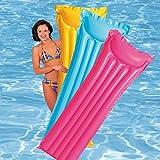 Intex Inflatable Glossy Float Swimming Mat - Water Aqua Fun (Colors May Vary)