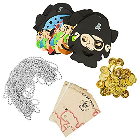 Pirate Accessories - Masks Costumes Party Favors for Kids by Funny Party Hats