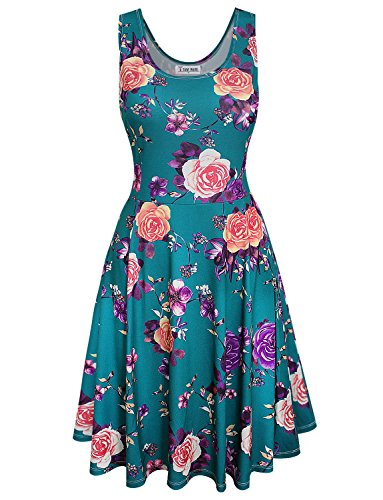 (TAM WARE Womens Vintage Inspired Sleeveless Floral Dress TWCWD168-VIOLET-US L)