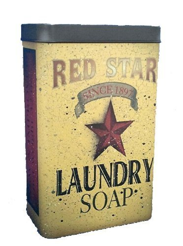 Amazon.com: Tin - Red Star Laundry Soap - Primitve Country Rustic ...