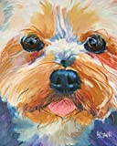 Yorkshire Terrier Yorkie Dog Fine Art Print on 100% Cotton Watercolor Paper