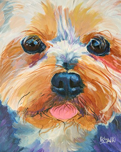 Yorkshire Terrier Art (Yorkshire Terrier Yorkie Dog Fine Art Print on 100% Cotton Watercolor Paper)