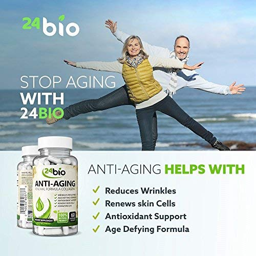 51l5yyfycbL - 24bio Best CoQ10 Upgraded Collagen Pills, Wrinkle Reduction Supplement Complex with Grape Seed Extract That Works, Pure Verisol Collagen Capsules for Anti-Aging, Antioxidant Support & Skin Health