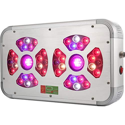 LED Grow Lamps Full Spectrum with UV and IR, 480 Watts OSRAM Horticulture LEDs, GROWant G3HiPAR Series GR480 Silver, Best for Indoor Plants Veg and Flower, Aluminium Alloy Housing