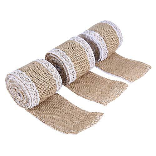 Amazon.com: ZJchao - Rollo de cinta de arpillera de encaje ...