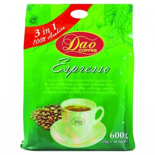 Laos Dao Instant Coffee 3in1 Espresso 100% Arabica 600g. (20g. X 30 Sticks)