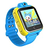 ZIMINGU Kids GPS Tracker SOS V83 3G Smart Watch with 2.0MP Camera Support Android Phone and iPhone(Blue)