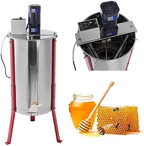 AXM De Acero Inoxidable de Tres extractores, separadores y Panal de Abejas de la Miel, los apicultores del Kit de extracción de Miel eléctrica,Silver