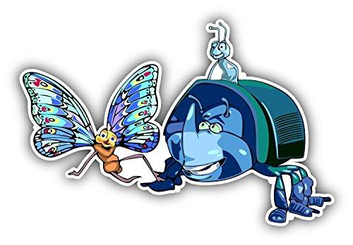 cartoon Bugs Life Trio Car Bumper Sticker Decal - Longer Side 14''