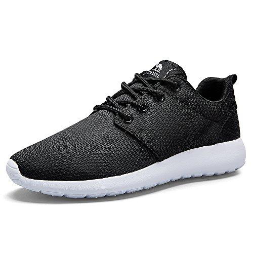 Gimnasio Ligeras Aire CROWN para CAMEL Negro Casual Correr Tenis Zapatillas Calzado Libre para Hombres Deportivos Atletismo de Caminar al Running Zapatos Transiprable Malla UnxqxRwp