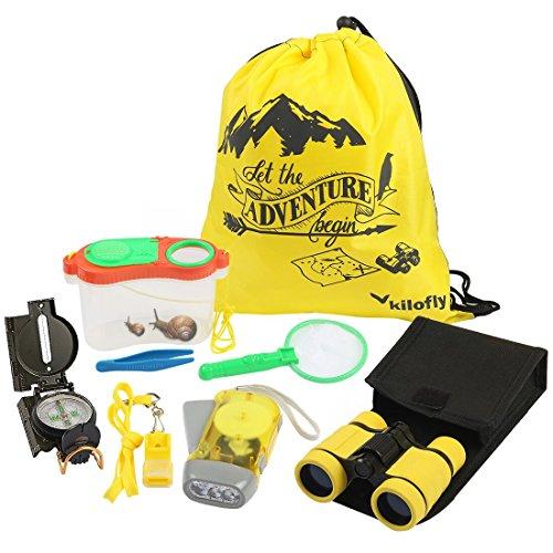 kilofly 8-in-1 Kids Nature Explorer Kit Fun Backyard Bug Catching Adventure - Adventure Pack