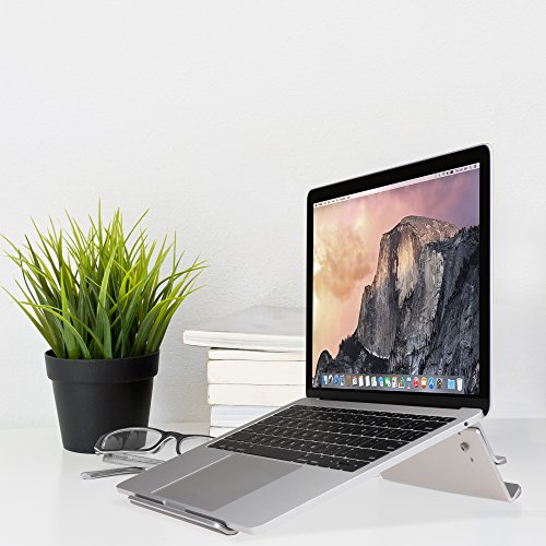 AVLT-Power Aluminum Adjustable Laptop Stand Riser for MacBook, Surface Book, Chromebook and any laptop/tablet up to 17'' 26.5lbs with Anti-Slip Pads and Cooling Strips, Portable and Ergonomic Design by AVLT-Power (Image #3)