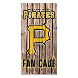 Pittsburgh Pirates MLB Fan Cave Retro Wood Sign (6in x12 in)