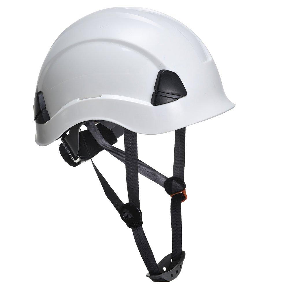 Height Endurance Scaffolding Climbing Steeplejack Work Safety Helmet Hard Hat With Chin Strap (Black)