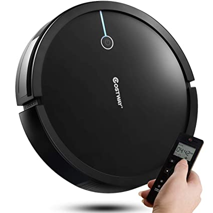 Costway Robot Vacuum Cleaner, 2000Pa Suction Cleaner Smart Schedule Cleaning, Remote Control, with