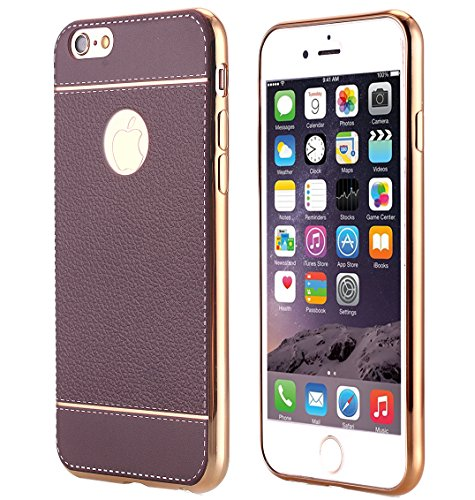 - iPhone 6S Case, AICase Soft PU Leather & Gold Pane Ultra [Luxury Slim] Protective Case Cover with Screen Protector for iPhone 6/6S (4.7