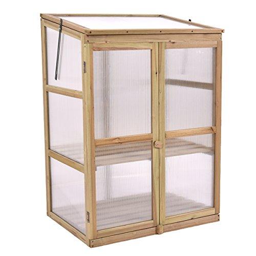 SKB family Garden Portable Wooden GreenHouse Cold Frame Raised ...