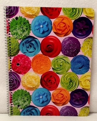 [Toddlers Kids Back to School Pre-school Elementary Girls Notebook Spiral Cupcake] (Homemade Disney Halloween Costumes)