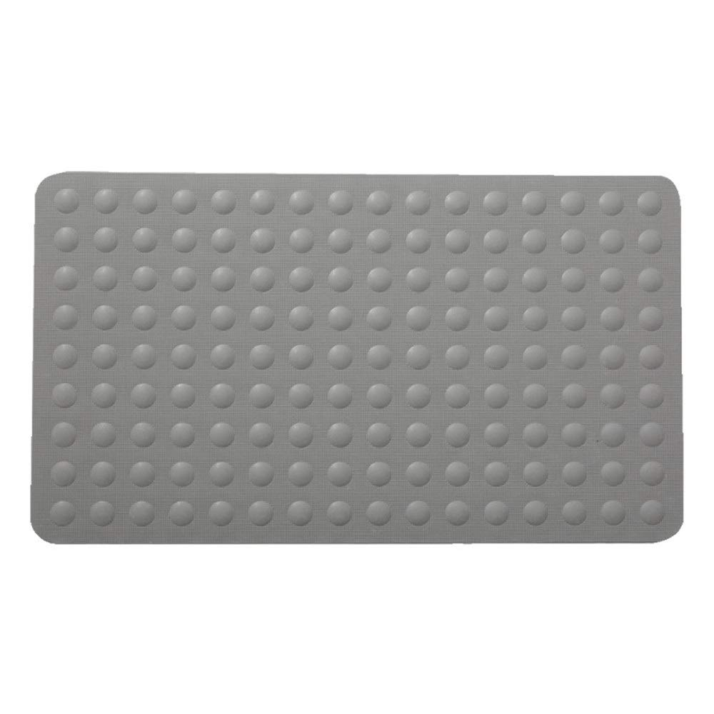 Bathroom Mats Non-Slip Bath Mat Adds Non-Slip Traction to Tubs & Showers with Suction Cups Machine Washable Plush Bath Mat for Bathroom (Color : Gray, Size : 50100cm)