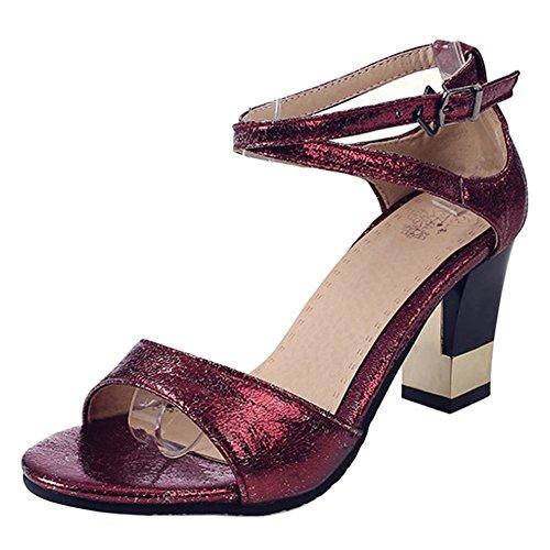 Coolcept Mujer Correa de Tobillo Sandalias Zapatos Red
