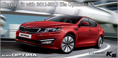 Exos rejilla frontal ajuste T rojo punto emblema 1-PC para 2011 2012 KIA Optima: K5: Amazon.es: Coche y moto