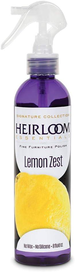 Heirloom Essentials Furniture Polish (Lemon Zest), 8 Ounce
