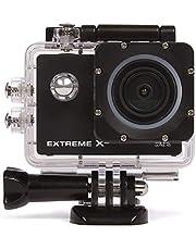 Nikkei ExtremeX6 Ultra HD Action/Sports Camera 16MP met WIFI,4K 30FPS - Full HD 60FPS - 720P 120FPS - waterdicht, scherm, accessoires, 900 mAh - zwart