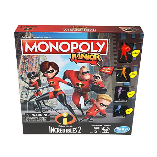 Monopoly Junior Game: Disney/Pixar Incredibles 2 -