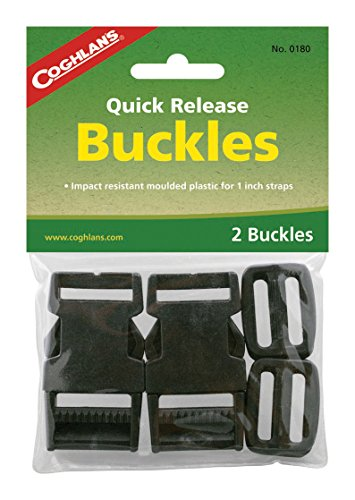 Coghlans 1 Inch Quick Release Buckles  1 Pair