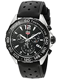Mens Formula 1 Swiss Quartz Stainless Steel and Rubber Dress Watch, Color: