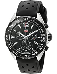 Men's 'Formula 1' Swiss Quartz Stainless Steel and Rubber Dress Watch, Color:Black (Model: CAZ1010.FT8024)
