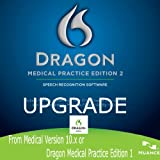 Nuance DMPE-2-U Dragon Medical Practice Edition 2, Upgrade from Medical 10.x or DMPE 1.x - License Upgrade - Retail Box