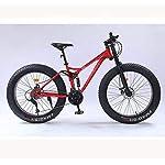 HYCy-Mountain-Bike-da-26-PolliciPneumatico-Grasso-MTB-Bike-BicycleMountain-Bike-a-Sospensione-CompletaTelaio-in-Acciaio-Ad-Alto-Tenore-di-CarbonioDoppio-Freno-a-Disco