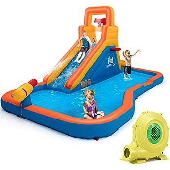 Amazon.com: Hinchable Bounce House Jump Splash de aventura ...