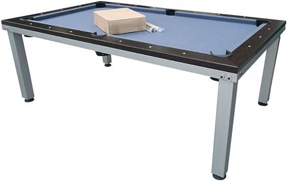 Billar Americano 2-en-1 Convertible en Mesa para comer - Marrón-Gris 217 x 125cm: Amazon.es: Deportes y aire libre