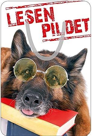 Edles Aluminium Metall Lesezeichen Leseclip Für Bücher Motiv Hund Mit Büchern Lesen Pildet Bürobedarf Schreibwaren