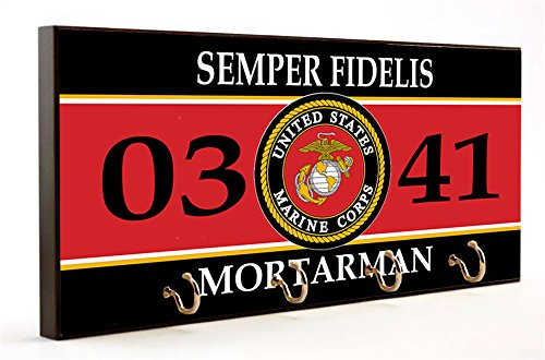 Brotherhood Us Marines Mos 0341 Mortarman Key Hanger W Flag Car Coaster
