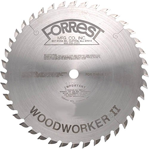 10 in x 40T ATB Forrest Woodworker II General Purpose - Woodworkers Saw Table 10 Inch