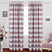 Deconovo Striped Blackout Curtains Rod Pocket Kids...