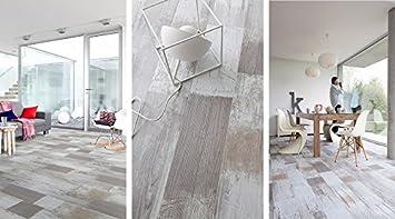 Gerflor senso rustic patchwork grey as vinyl laminat fußbodenelag