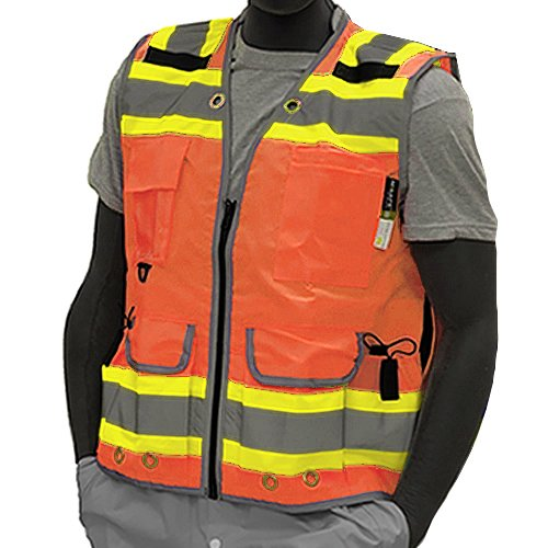 Majestic Glove 75-3236/X5 High Visy Duty Vest, Relief Pip, Insulated Pocket, Dot, 5X-Large, Yellow by Majestic Glove