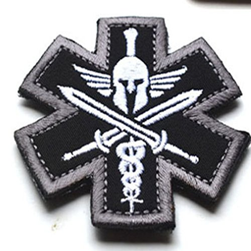 Tactical Medic Spartan Morale Patch (SWAT (Black))