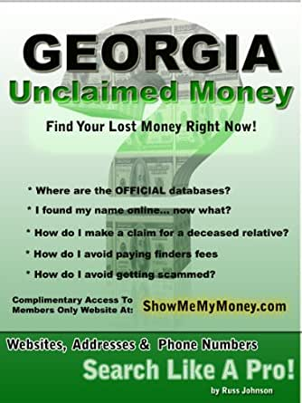 Georgia unclaimed money how to find free missing money for How to get money to buy land
